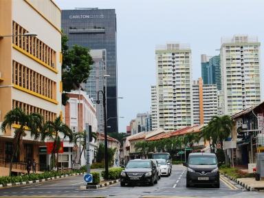 Singapore street near Maxwell Road